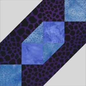 Beads Block, and Easy Block Using Four Patches and Half Square Triangles